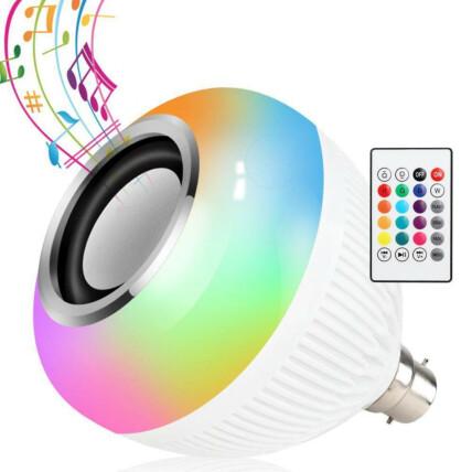 Lâmpada Caixa de Som Bluetooth com Controle Remoto Luz RGB Lehmox - LEY-WJ-L2