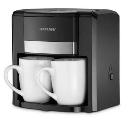 Cafeteira Elétrica Multilaser 127V 500W com 2 Xícaras e Filtro Permanente Preta - BE009