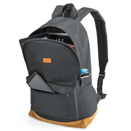 Mochila Backpack Para Notebook Preta E Marrom Até 15.6 Pol Multilaser - BO407