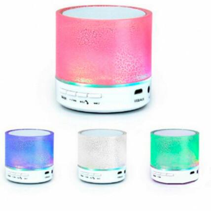 Caixa de Som Bluetooth Com LED RGB Crackelado Exbom - CS-A12BT