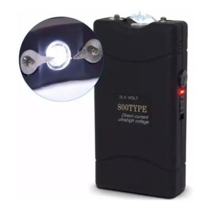 Lanterna e Taser Recarregável 6v Bivolt - 800TYPE