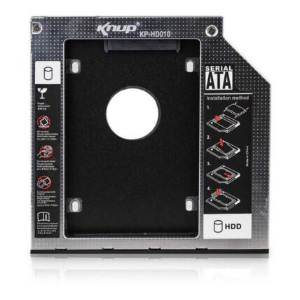 Adaptador Caddy Case para HD e SSD Sata 2.5 Polegadas 9.5mm - KP-HD010-1