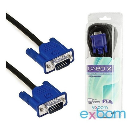 Cabo Vga 5 Metros para Monitor Blister Exbom - CBX-MVGA50