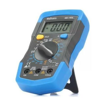 Multímetro Digital Portátil Lcd de 3 ½ Dígitos Com Iluminaçao de Fundo Exbom - MD-180L