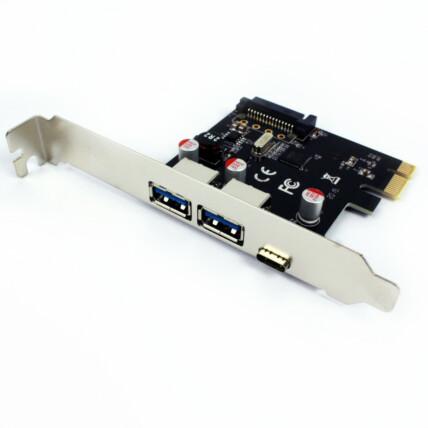 Placa PCI-E 2 * USB 3.0 + Type-C Dex - DP-33C