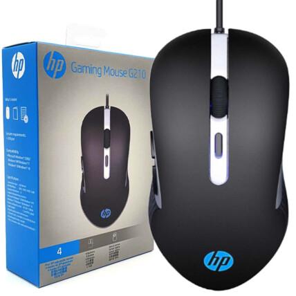Mouse Gamer HP com 6 Botões e RGB 2400 DPI - G210