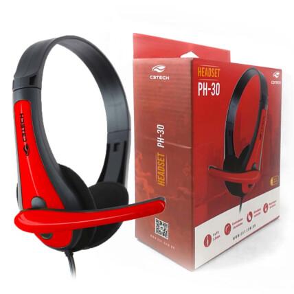 Fone de Ouvido Headset com Microfone C3Tech Preto - PH-30BK