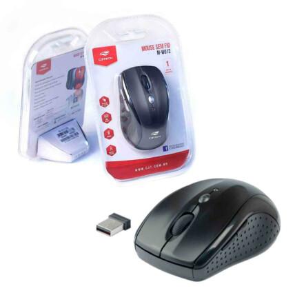 Mouse Sem Fio C3Tech Wireless RC/Nano Preto - M-W012BK V2