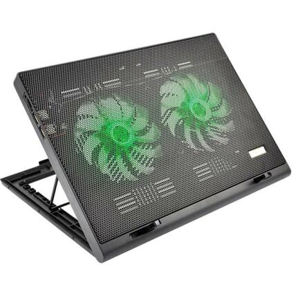 Base Cooler para Notebook Warrior Power Gamer Led Verde - AC267