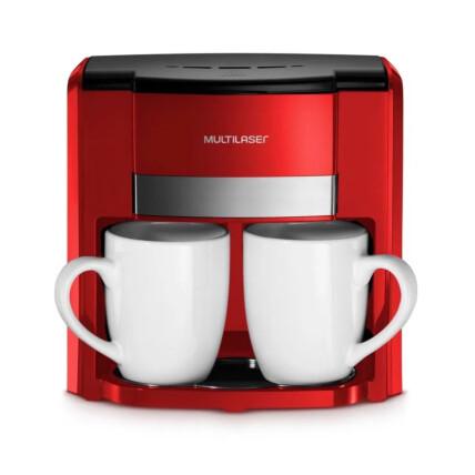 Cafeteira Elétrica Multilaser 2 Xícaras 127v 500w Vermelha - BE015