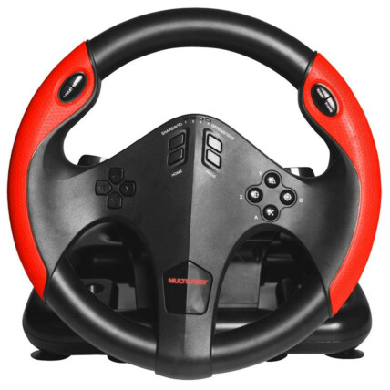Volante Gamer Multilaser PC/X-one/Ps3/Ps4 com Marcha e Pedal- JS087