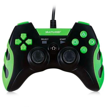Controle Gamer Multilaser Ps3/PC com Fio Preto/verde - JS091