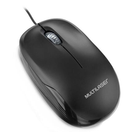 Mouse Multilaser Box Óptico com Fio Usb 1200 dpi Preto - MO255