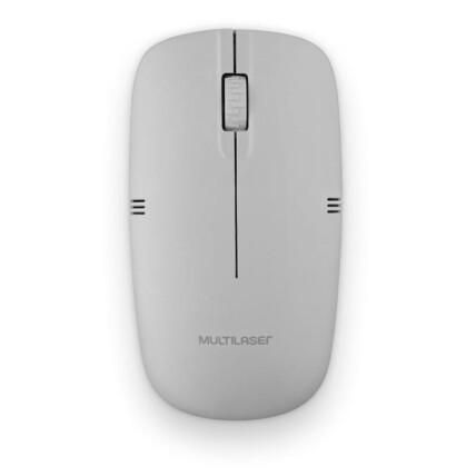 Mouse Sem Fio Multilaser Usb 1200 dpi Cinza - MO287