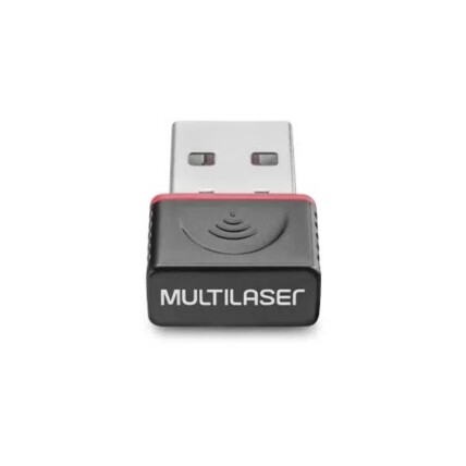 Adaptador Wireless Multilaser Usb 150mbps Preto - RE035