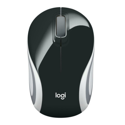 Mini Mouse Logitech Sem Fio Usb Rc/Nano 1000 dpi - M187 PRETO