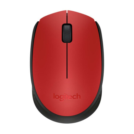 Mouse Sem Fio Logitech Wireless Ambidestro Usb Rc/nano - M170 VERMELHO