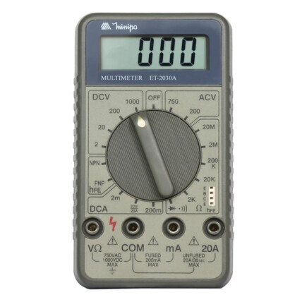 Multímetro Digital Minipa AC DC 20MOhms 20A - ET-2030A
