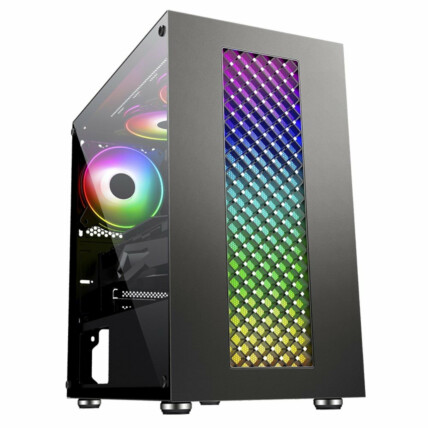 Gabinete Gamer K-Mex Bifrost III Led RGB Mid Tower - CG-01RU