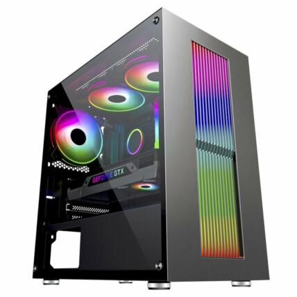 Gabinete Gamer K-Mex Bifrost IV Led RGB Mid Tower - CG-02RU
