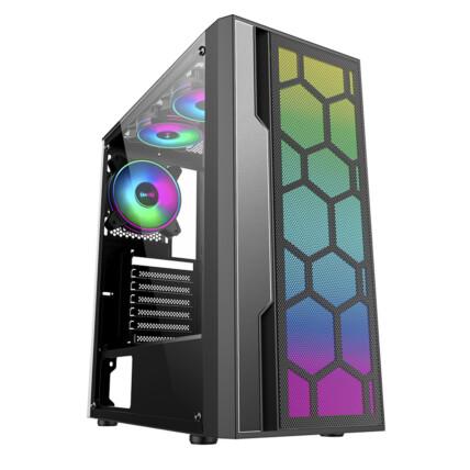 Gabinete Gamer K-Mex Multiverso Led RGB Mid Tower - CG-02TT