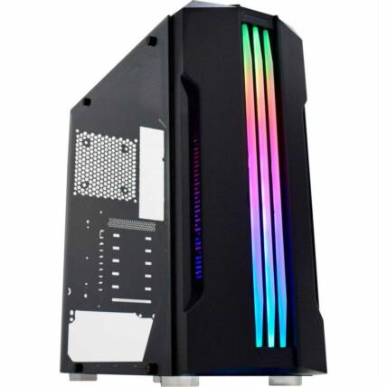 Gabinete Gamer K-Mex Bifrost Led RGB Mid Tower - CG-02QI