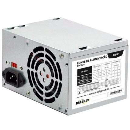 Fonte ATX Brazil PC 230W Real 24 Pinos Bivolt - BPC-S230V1.2