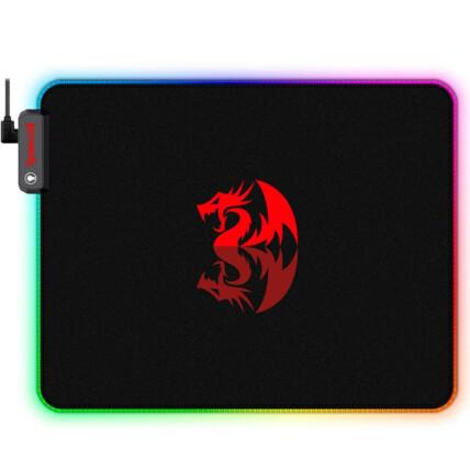Mousepad Gamer Redragon Pluto 330x260mm Led RGB Grande - P026