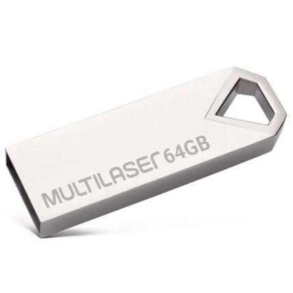 Pen drive Multilaser Diamond 64GB USB 2.0 Metálico - PD852