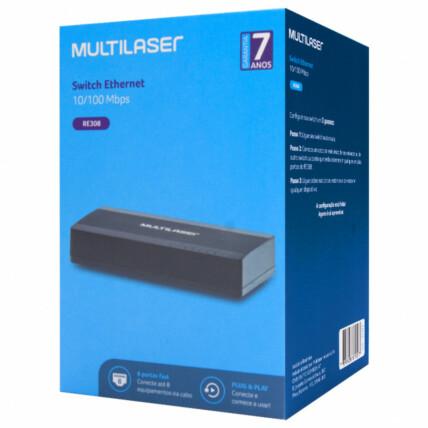 Switch Mini 8 Portas Multilaser Soho 100mbps - RE308