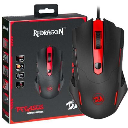 Mouse Gamer Redragon Pegasus Usb Led 7200 DPI Preto - M705