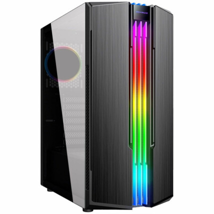 Gabinete Gamer Mymax Eternity Mid Tower USB 3.0 Preto RGB - MCA-ETERNITY/RGB