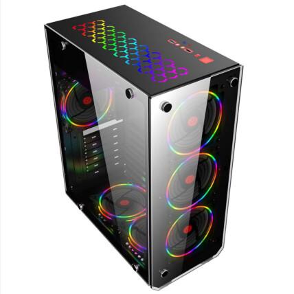 Gabinete Gamer Mymax Vulcano Mid Tower USB 3.0 Preto - MCA-VULCANO/BK