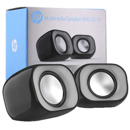 Caixa de Som Speaker HP Usb 2.0 P2 2x3W Preta - DHS-2111