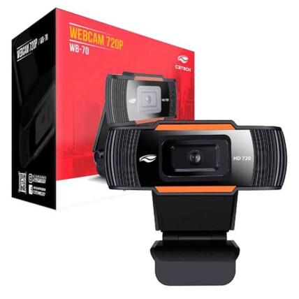 Webcam HD C3Tech 720P com Microfone Embutido - WB-70BK