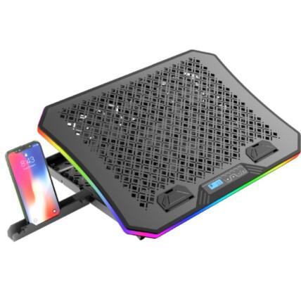 Base Gamer para Notebook 17.3' C3Tech com Coolers RGB LED - NBC-600BK