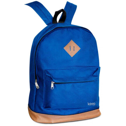 Mochila Para Notebook 15,6 Pol. Keep Everyday Multilaser Azul e Marrom - BO436