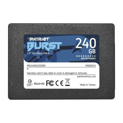 SSD 240Gb Patriot Burst 7mm SATA III 2,5 - PBE240GS25S