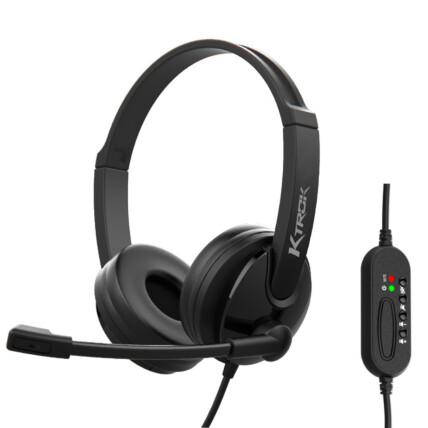 Fone Headset Usb com Microfone Corporativo Ktrok - KT-3033