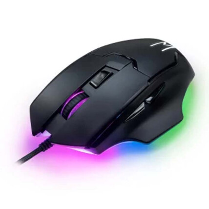 Mouse Gamer Multilaser Warrior Gunter Rainbow 6400 DPI - MO297