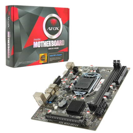 Placa Mãe para Intel LGA 1155 2x DDR3 6x Usb 2.0  VGA/HDMI Afox - H-61C
