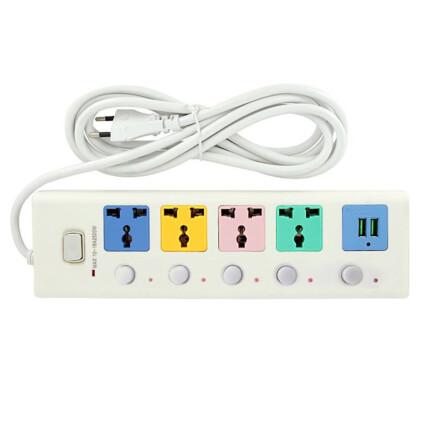 Extensão Elétrica Régua Universal 4 Entradas 2 USB Max 10-16A 2500W LEHMOX - LEY-36