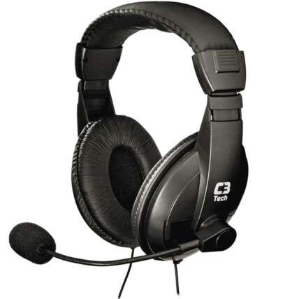 Fone de Ouvido Com Microfone Voicer Comfort C3Tech - PH-60BK