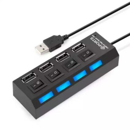Hub USB Extensor 4 Portas 2.0 com Interruptor Lehmox - LEY-21
