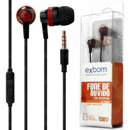 Fone de Ouvido Com Microfone Controle para Chamadas para Smartphone e Mp3 Exbom - EF-222MV