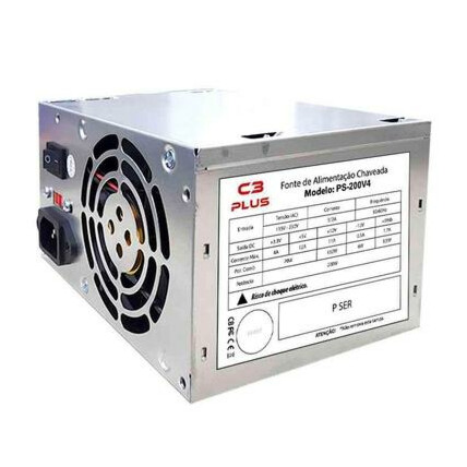 Fonte ATX 200W C3Tech Bivolt sem Cabo - PS-200V4