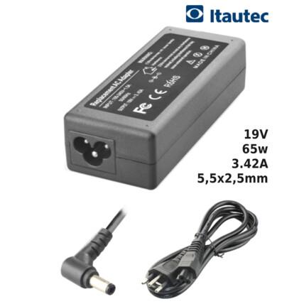Fonte para Notebook Compatível com ITAUTEC 19V 3.42A 65W 5,5x2,5mm SUMEXR - IT-16
