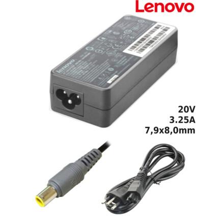 Fonte para Notebook Compatível com LENOVO 20V 3.25A 7,9x8,0mm SUMEXR - LE-14A