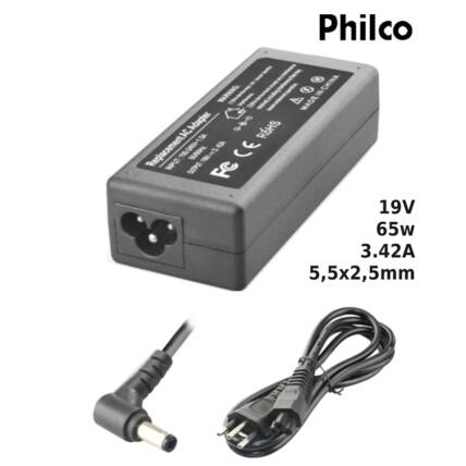 Fonte para Notebook Compatível com PHILCO 19V 3.42A 65W 5,5x2,5mm SUMEXR - PH-18