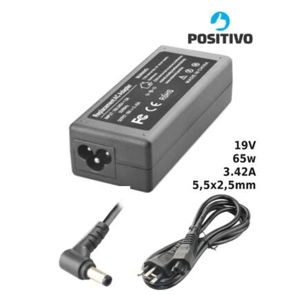 Fonte para Notebook Compatível com POSITIVO 19V 3.42A 65W 5,5x2,5mm SUMEXR - PO-20